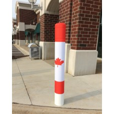 Bollard Cover Sox - Maple Leaf
